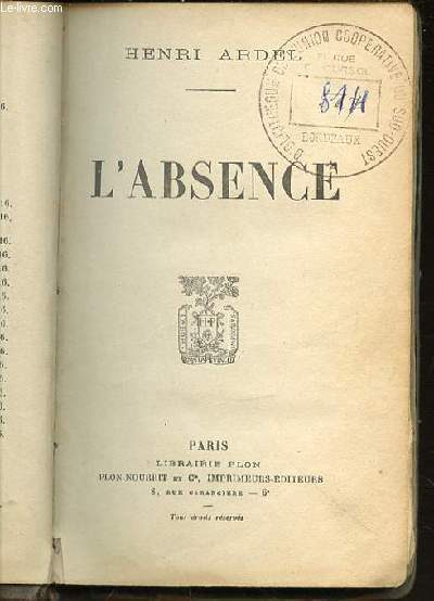 L'ABSENCE.