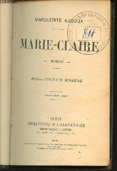 MARIE-CLAIRE - BIBLIOTHEQUE CHARPENTIER.