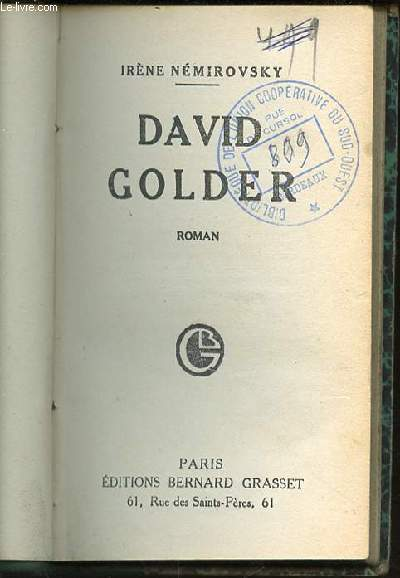 DAVID GOLDER - EDITION ORIGINALE.
