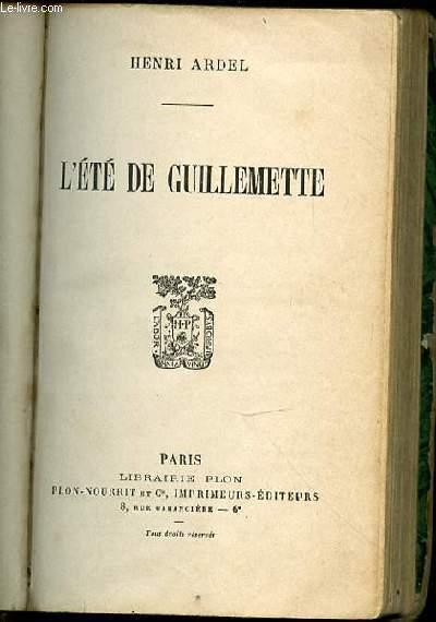 L'ETE DE GUILLEMETTE.