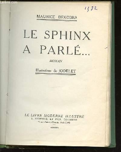 LE SPHINX A PARLE ... - ROMAN.