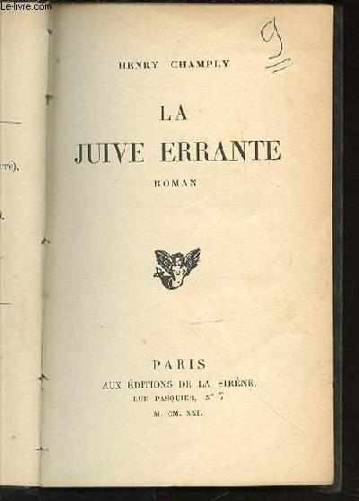 LA JUIVE ERRANTE - ROMAN.