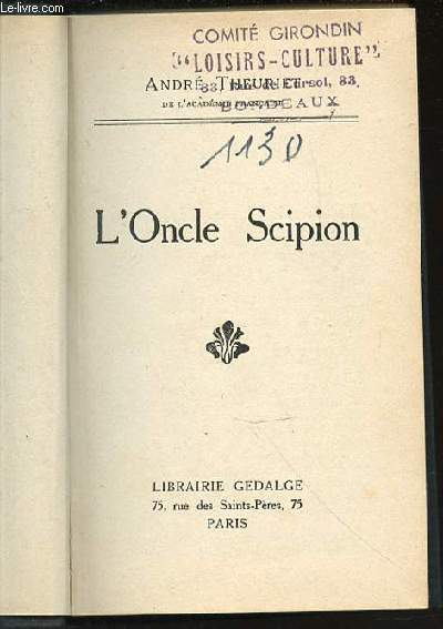 L'ONCLE SCIPION.