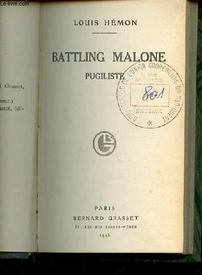 BATTLING MALONE PUGILISTE.