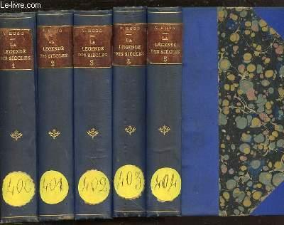 LA LEGENDE DES SIECLES EN 5 TOMES (1+2+3+4+5).