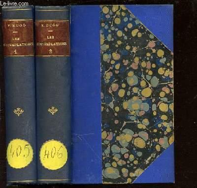 LES CONTEMPLATIONS EN 2 TOMES : TOME 1 (AUTREFOIS : 1830-1843) + TOME 2 (AUJOURD'HUI : 1843-1855).