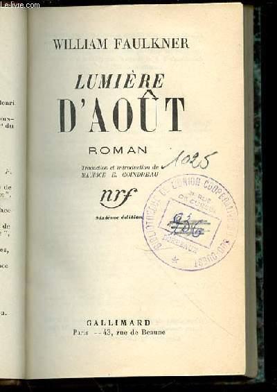 LUMIERE D'AOUT.