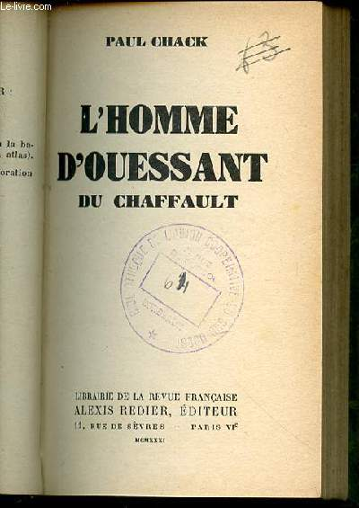 L'HOMME D'OUESSANT DU CHAFFAULT.