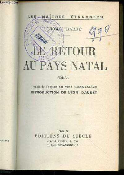 LE RETOUR AU PAYS NATAL - COLLECTION