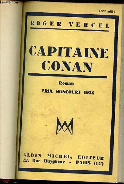 CAPITAINE CONAN - ROMAN PRIX GONCOURT 1934.