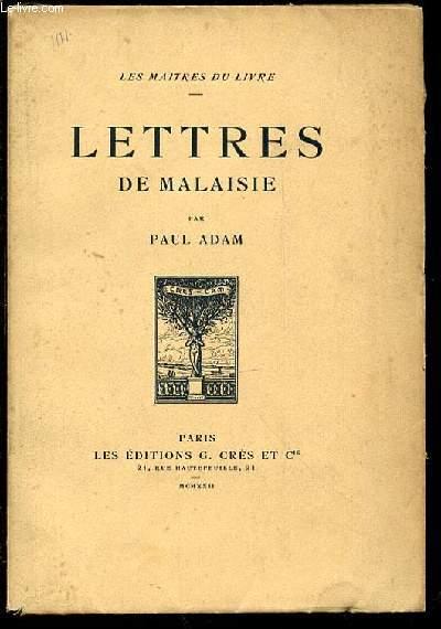 LETTRES DE MALAISIE - COLLECTION