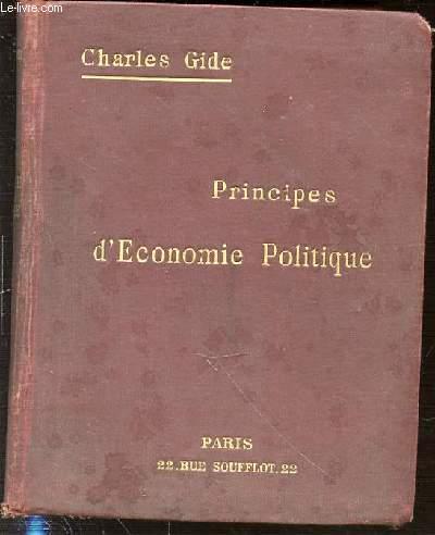PRINCIPES D'ECONOMIE POLITIQUE.