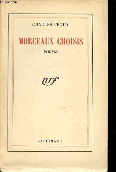 MORCEAUX CHOISIS : POESIE.