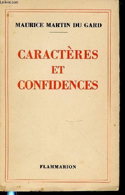 CARACTERES ET CONFIDENCES.