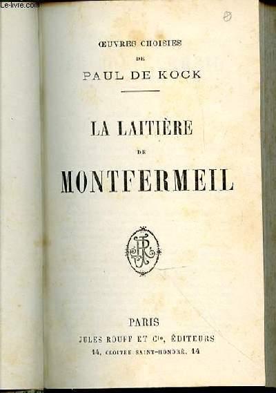 LA LAITIERE DE MONTFERMEIL.