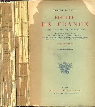 HISTOIRE DE FRANCE DEPUIS LES ORIGINES JUSQU'A LA REVOLUTION - TOME NEUVIEME EN 2 PARTIES : I. LE REGNE DE LOUIS XVI (1774-1789) PAR CARREH., SAGNAC P. ET LAVISSE E. + II. TABLES ALPHABETIQUES.