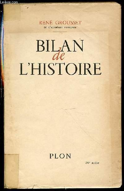 BILAN DE L'HISTOIRE.