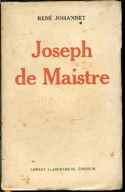 JOSEPH DE MAISTRE.