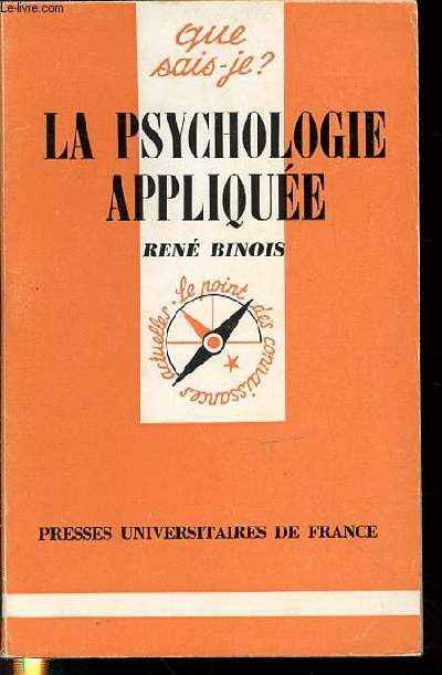 LA PSYCHOLOGIE APPLIQUEE - COLLECTION