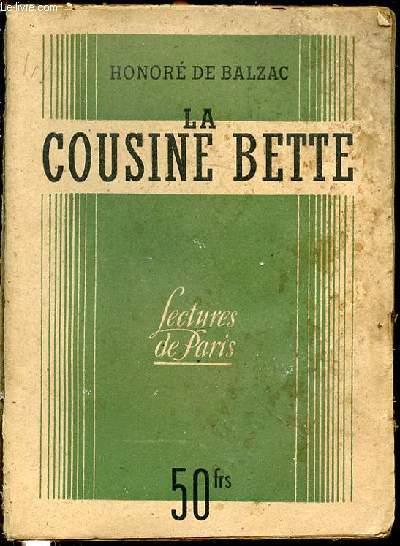 LA COUSINE BETTE - BIBLIOTHEQUE DE LECTURES DE PARIS.