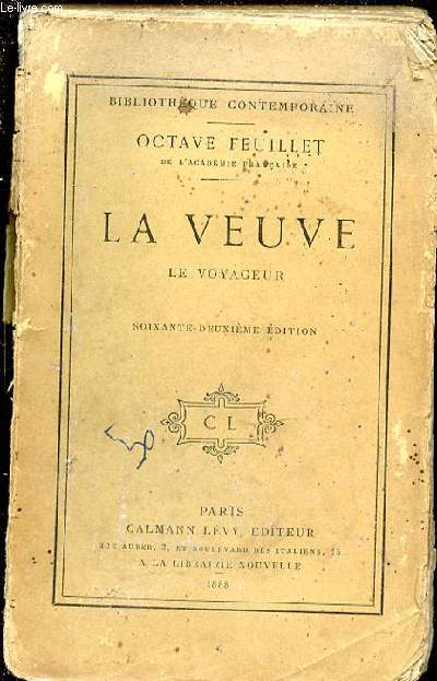 LA VEUVE - LE VOYAGEUR / BIBLIOTHEQUE CONTEMPORAINE.