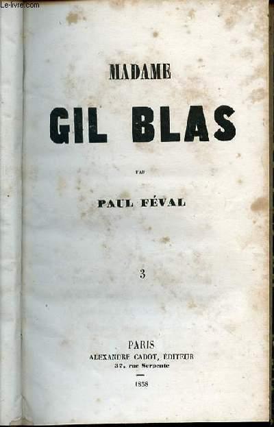 MADAME GIL BLAS - TOME 3.