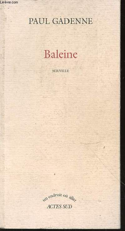 BALEINE - NOUVELLE / COLLECTION