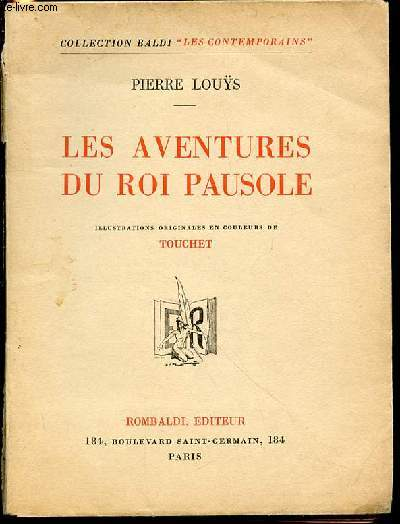 LES AVENTURES DU ROI PAUSOLE - COLLECTION BALDI