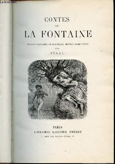 CONTES DE LA FONTAINE - EDITION ILLUSTREE DE NOUVEAUX DESSINS HORS TEXTE PAR STAAL.