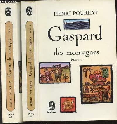 GASPARD DES MONTAGNES EN 2 TOMES (1+2). LE LIVRE DE POCHE N°2015 ET N°2016.