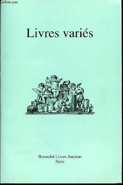 CATALOGUE DE VENTE N°134 : LIVRES VARIES, PARIS.