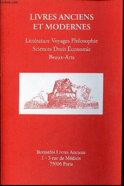 CATALOGUE DE VENTE N°139 : LIVRES ANCIENS ET MODERNES / LITTERATURE, VOYAGES, PHILOSOPHIE, SICENCES DROIT ECONOMIE, BEAUX-ARTS.