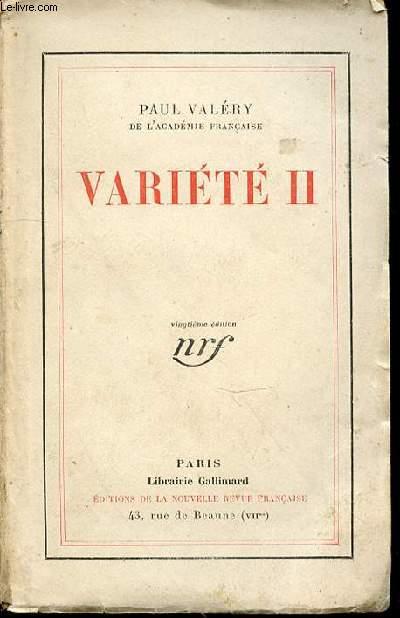VARIETE II.