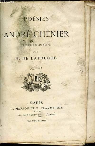 POESIES - PRECEDEES D'UNE NOTICE PAR H. DE LATOUCHE.