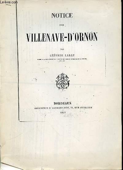 NOTICE SUR VILLENAVE-D'ORNON.