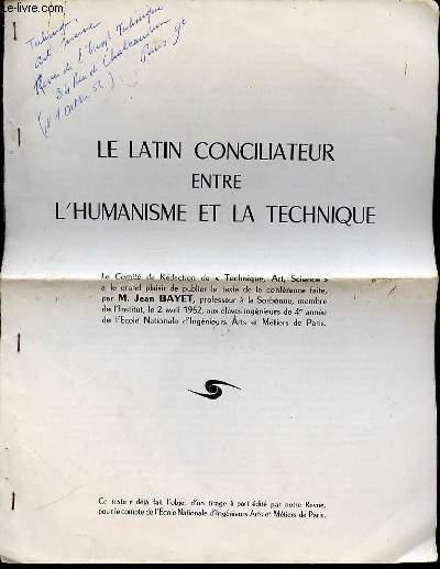LE LATIN CONCILIATEUR ENTRE L'HUMANISME ET LA TECHNIQUE.