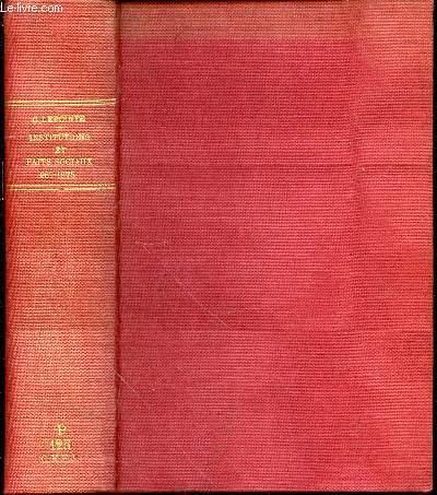 HISTOIRE DES INSTITUTIONS ET DES FAITS SOCIAUX (987-1875).
