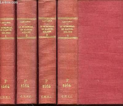 LE MEMORIAL DE SAINTE-HELENE EN 4 TOMES (1+2+3+4) - SUIVI DE NAPOLEON DANS L'EXIL PAR O'MEARA ET DU SEJOUR DU DOCTEUR ANTOMMARCHI A SAINTE-HELENE.
