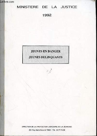 JEUNES EN DANGER, JEUNES DELINQUANTS.