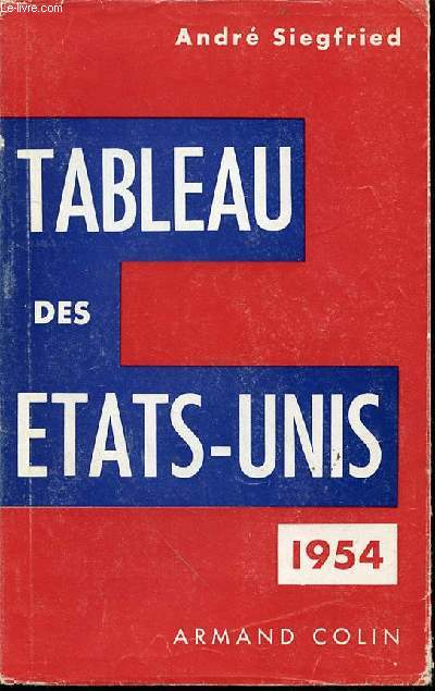 TABLEAU DES ETATS-UNIS 1654.