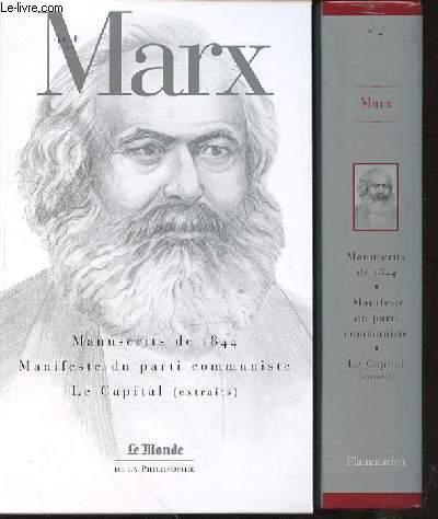 MANUSCRITS DE 1844, MANIFESTE DU PARTI COMMUNISTE, LE CAPITAL (EXTRAITS) - COLLECTION