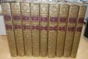 OEUVRES DE MOLIERE EN 9 TOMES NUMEROTES DE 1 A 9 (COMPLET) - EDITION POUR LE TRICENTENAIRE DE LA MORT DE MOLIERE.
