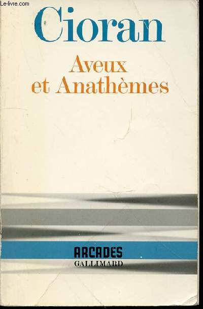 AVEUX ET ANATHEMES - COLLECTION