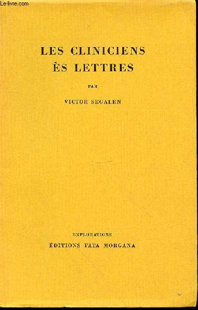 LES CLINICIENS ES LETTRES - COLLECTION