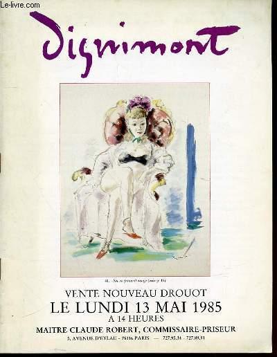 CATALOGUE DE VENTE AUX ENCHERES : AQUARELLES, GOUACHES, SANGUINES D'ANDRE DIGNIMONT (1891-1965) - NOUVEAU DROUOT, SALLE N°16, LUNDI 13 MAI 1985 A 14H00.