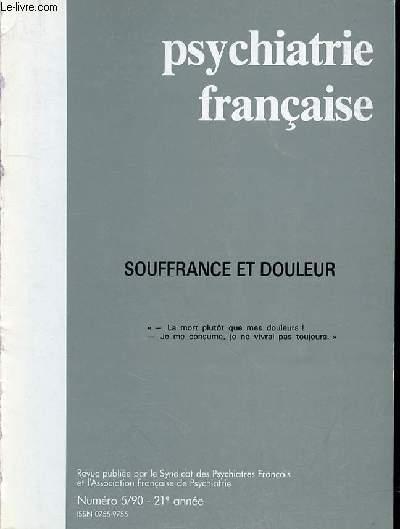 Psychiatrie Francaise N 5 1990 21eme Annee Sommaire Souffrance Et Douleur La Citation De La Couverture Est Tirée Du Livre De Job 6 5 7