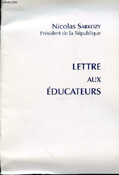 LETTRES AU EDUCATEURS