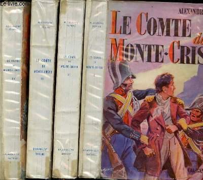 LE COMTE DE MONTE CHRISTO  - TOME 1, 2, 3 ET 4