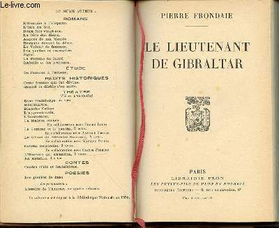 LE LIEUTENANT DE GIBRALTAR