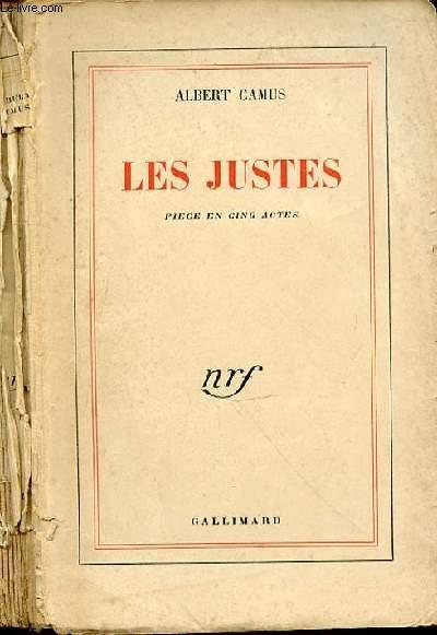 LES JUSTES PIECE EN 5 ACTES
